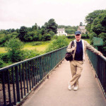 Tom Gallen on Drumboe Footbridge.