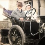Dr. and Mrs. Johnston and Their Motor Car
